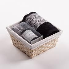 towel basket aida black black candle set