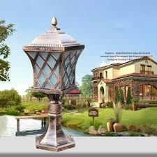 Landscape Pillar Lighting Amazon Com Pumpink European Style Fence Outdoor Light