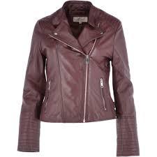 leather biker jacket oxblood casey