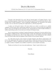 Computer Science Cover Letter Internship Benjaminimages Com