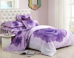 great purple roses printed 4 piece duvet cover bedding sets 10486287