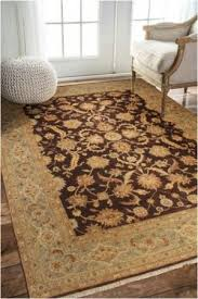 rugsville ziegler traditional brown wool rug 9 x