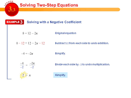 3 solving two step equations 12