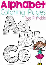 This alphabet coloring page would be a great tool to get your kid to strengthen his association power. 20 Hands On Alphabet Printables Activities For Kids