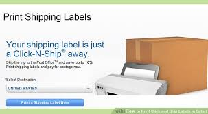 how to print a shipping label how to print click and ship labels in safari 4 steps