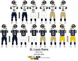 St Louis Rams Qb Depth Chart Los Angeles Rams Uniforms Los Angeles Rams Uniforms La