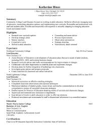 best lead educator resume example livecareer choose