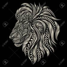 Vector Patterns Interesting Abstract Lion Vector Patterns On A Black Background Royalty Free