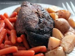 slow cooker roast beef dinner using