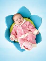 cute baby in flower cot hd mobile