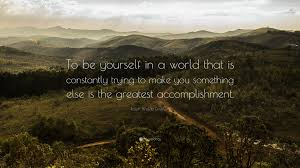 "To Be Yourself In A World Quote Best Of Ralph Waldo Emerson Quote ""To Be Yourself In A World That Is"