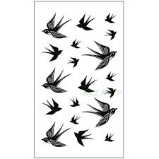 водонепроницаемая временная татуировка наклейка ласточка летающая птица