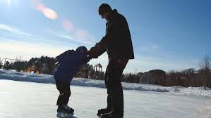 photo essay a season for skating woodbury bulletin phillip vandewerken helps son robert 6 as he ice skates for the first time at colby lake park 1 9