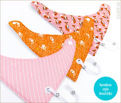 Bandana Style Baby Drool Bibs In 3 Sizes Sew4home
