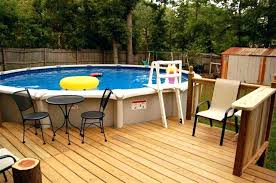 Swimming Pool Decks For Above Ground Pools Round Deck Plans Outstanding With