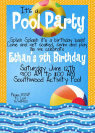 pool party invitation wording using smart ideas and pretty 7