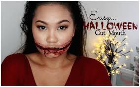 easy sfx halloween makeup cut mouth zebbyzelf