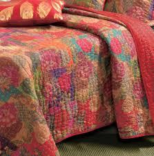 Red Boho Moroccan Quilt Set & Jewel Red Boho Moroccan Quilt Set Adamdwight.com