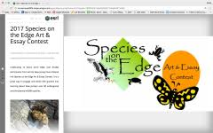 species on the edge art and essay contest conserve wildlife image of 2017 species on the edge story map