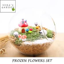 [ Snowy Flower Terrarium ] Frozen Flower / Terrarium / Terrarium Decoration  / Potted Plant Accessories