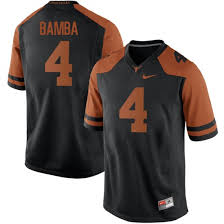 Big Tall Mens Mohamed Bamba Texas Longhorns Nike Game Black Mens Football College Jersey