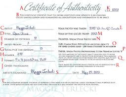Certificate Of Authenticity How To Create Your Own