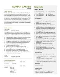 Cv For Teaching Cv Template For Teaching Job Under Fontanacountryinn Com