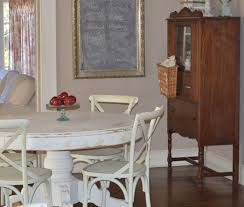 White Distressed Kitchen Table Thinking About Paint And Color Continued Cottage Fix