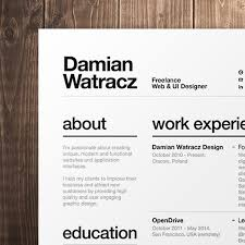 Modern Looking Font For Resume Modern Resume Fonts Magdalene Project Org