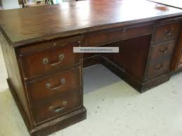 antique solid wood office desk antique wood office desk