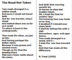 the road not taken by robert frost essay the road not taken 2 1