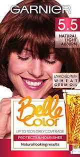 Garnier Belle Color 5.5 <b>Natural Light</b> Auburn Permanent <b>Hair</b> Dye ...