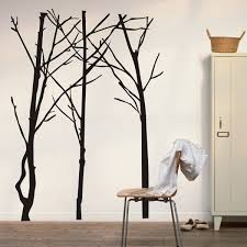simple minimalist black birch tree silhouette wall decals wall inspiration of blowing tree wall decal