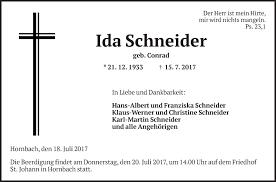 Anzeige von Ida Schneider   Trauer & Gedenken
