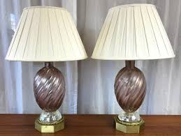 barovier e toso murano glass brass table lamps 1