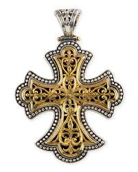 konstantinoflared cross pendant
