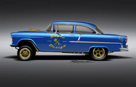 55 chevy gassers drag racing - Google Search   55 Chevy Gassers ...