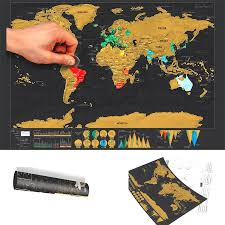 scratch off world map deluxe edition – trending decor