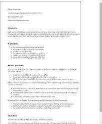 resume templates hvac apprentice hvac technician sample resume