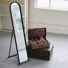 metal framed floor mirror antique