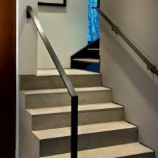 metal stair handrail. Beautiful Metal Modern Limestone Stairs With Black Railing Metal Stair Handrail L