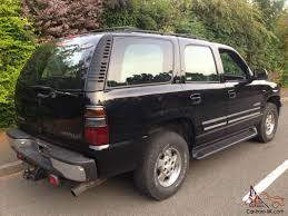 2001 CHEVROLET TAHOE V8 5.3 SMALL BLOCK BLACK 7 SEATS