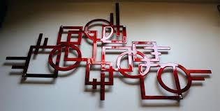 modern lines metal wall art decor metallic red x metal art wall decor india email