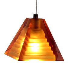 amber pendant lighting. New Amber Glass Pendant Lights 6 Shown With Light Bulb Lit Lamp Lighting E