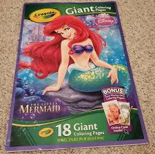 Colour in each of the 18 pages to. Disney Office Crayola 8 Giant Coloring Pages The Little Mermaid Poshmark