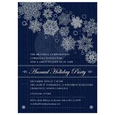 Corporate Holiday Party Invite Party Invitation Blue Corporate Holiday Party Faux Glitter Snowflakes