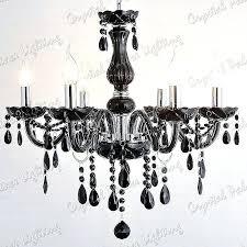 black and crystal chandelier 8 arms swarovski earrings