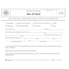 Free Bill Sale Template Automobile Of Form For A Car