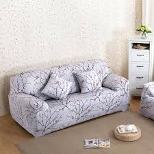 cover furniture. Plum Furniture Blossom Printed Sofa Cover Spandex Stretch Couch Elastic Corner Protector Slipcover For Bulgarian Ak H