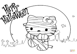 Small Picture Hello Kitty Halloween Mummy coloring page Free Printable